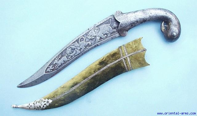 Oriental-Arms: Indian Khanjar Dagger with Chiseled ...